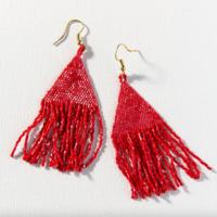 """Earrings   3.25""""   Petite Fringe   Scarlet Luxe"""