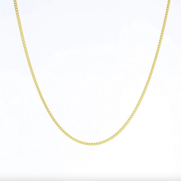 "Necklace   16"" Curb Chain   Gold Vermeil"