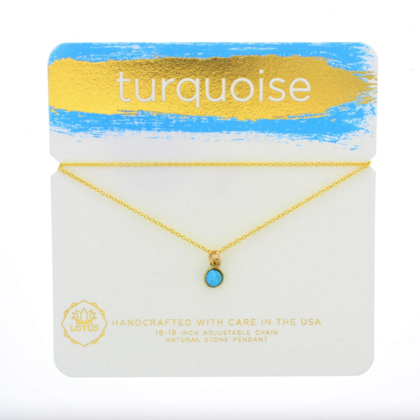 Turquoise Gemstone Necklace | Gold Vermeil
