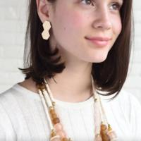 Brass Earrings   Small Double Hex Post