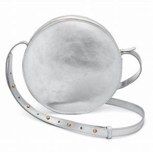 Circle Crossbody Bag | Full Moon | Aluminum
