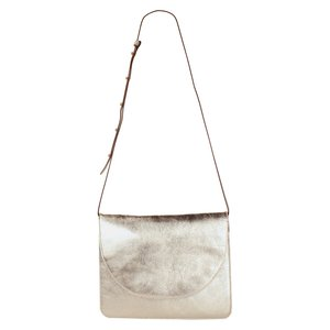 Saddle Crossbody Bag | Large | White Gold