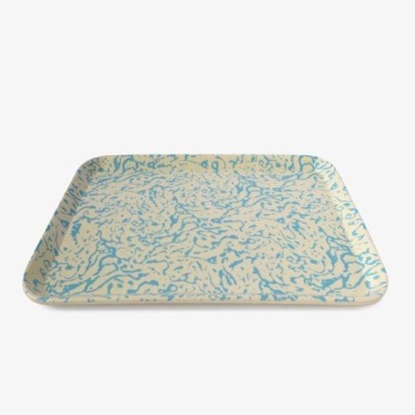 Xenia Taler Bamboo Tray | Faux Marble