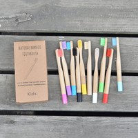 DHgate Boxed Bamboo Toothbrush | Wood Color Dip