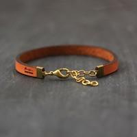 Laurel Denise LLC Bracelet   Brown Leather   Mama
