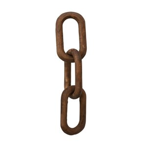 Creative Co-Op Decorative  Chain | Dark Wood Stain | 24""