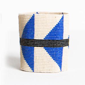"Ink + Alloy Stretch Beaded Bracelet | 2.25"" | Ivory Lapis Triangle"