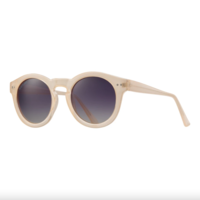 Sunglasses Charley | Beige + Gradient Smoke Polarized Lens