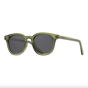 Sunglasses Gram | Crystal Olive Green + Smoke Lens