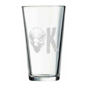 Ink & Etch Pint Glass | OK Buffalo