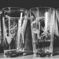 Ink & Etch Pint Glass   OK Buffalo