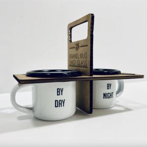 Ink & Etch Enamel Cups | Espresso/Shot Set