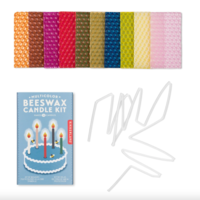 Kikkerland Candle Kit   Beeswax Multicolor