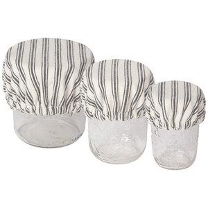 Bowl Cover | Set of 3 Minis | Ticking Stripe