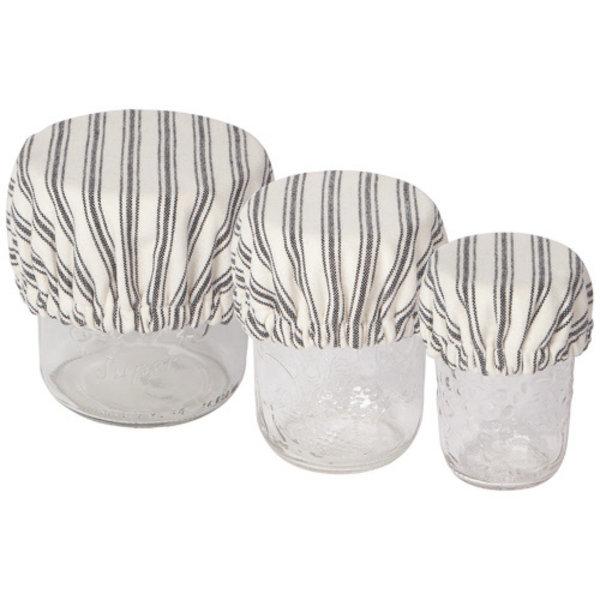 Now Designs Bowl Cover   Set of 3 Minis   Ticking Stripe