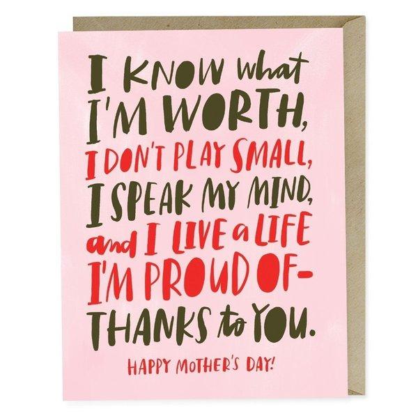 Emily McDowell Card | Know My Worth Mom