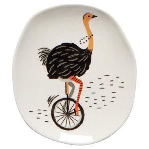 Now Designs Trinket Tray   Wild Riders (Ostrich)
