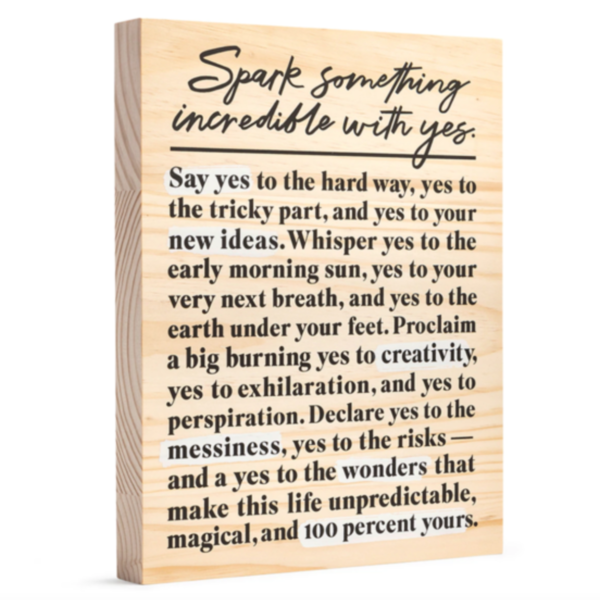 Compendium Wood Sign | Large | Spark Something Incredible