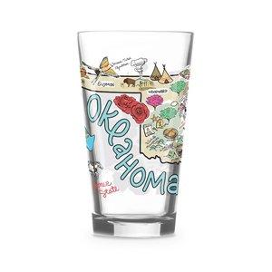 Fish Kiss Pint Glass | 16oz | Oklahoma
