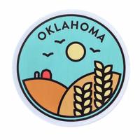 Stickers Northwest Sticker   Oklahoma   Wheat Badge