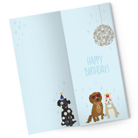 Sweeter Cards Chocolate Bar Card   Heard There Was a Pawty