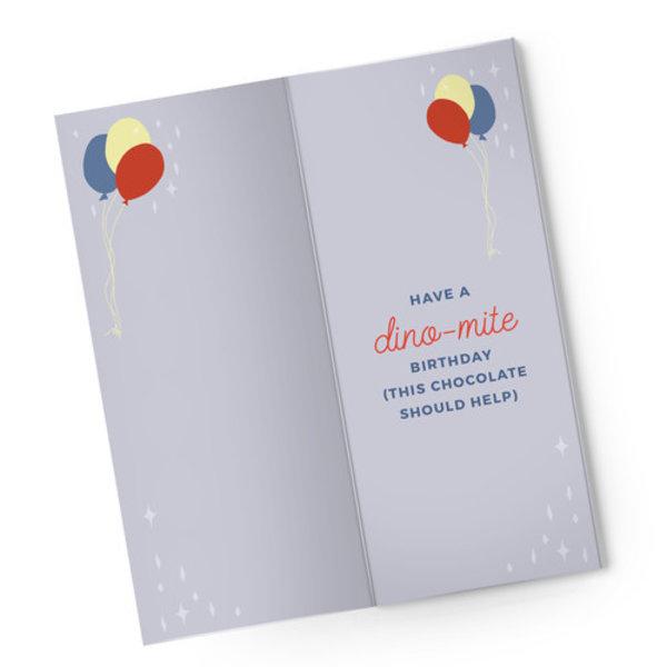 Sweeter Cards Chocolate Bar Card   Happy Bday Partysaurus