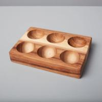 Be Home Egg Holder | Half Dozen | Acacia Wood