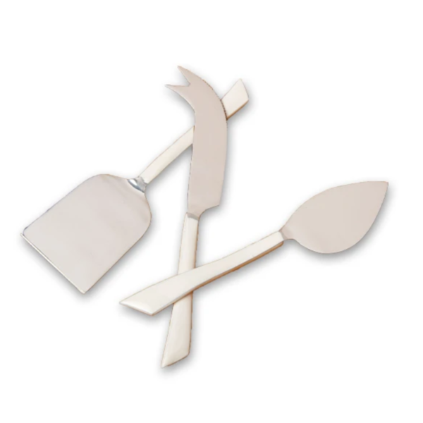 Be Home Cheese Set | Stainless Steel | White Dipped Enamel