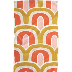 Geometry House Tea Towel | Microfiber | Gold Bows