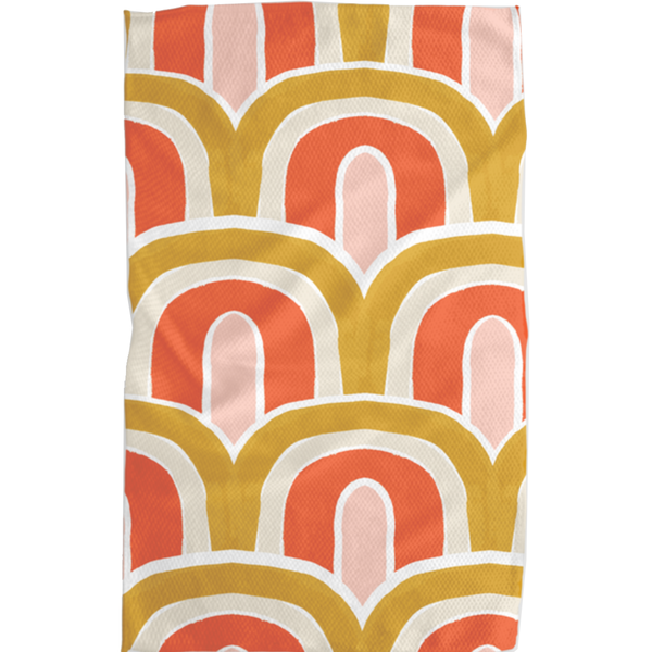 Geometry House Tea Towel   Microfiber   Gold Bows