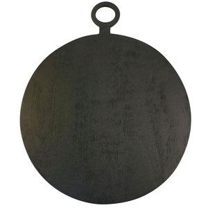 Be Home Cutting Board | Black Mango Wood | Extra Large Round