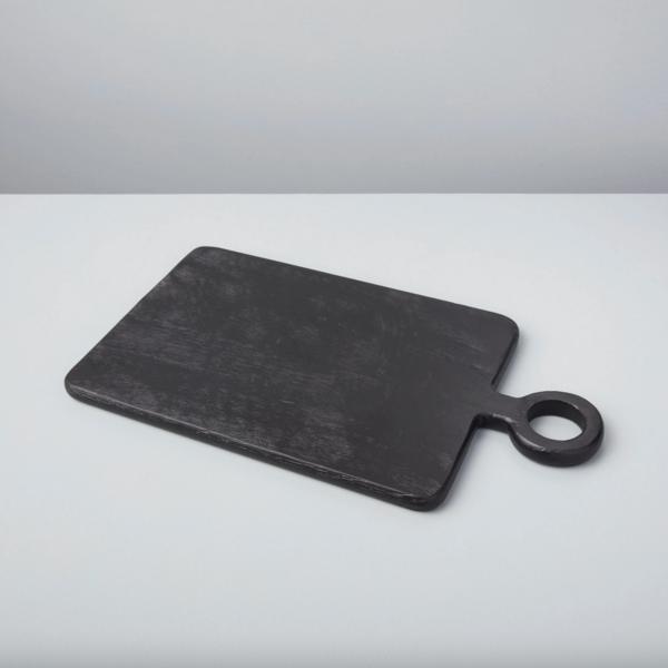 Be Home Cutting  Board   Black Mango Wood   Mini Rectangular