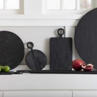 Be Home Cutting Board   Black Mango Wood   Mini Round