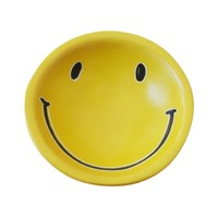 Venture Imports Dish | Smiley Face Yellow