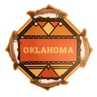 Stickers Northwest Sticker   Oklahoma   Salmon Mosaic