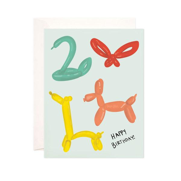 Bloomwolf Studio Card   Birthday   Balloon Animals