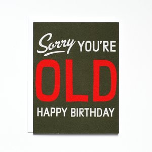 Banquet Workshop Card | Birthday | Sorry You're Old