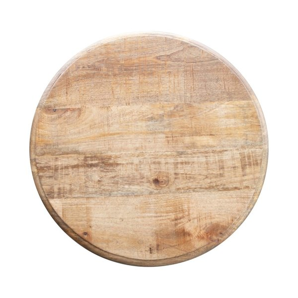 "Creative Co-Op Table | Round Mango Top + Metal Base | 28"" Tall"