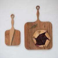 "Creative Co-Op Cutting Board   Acacia Wood   Square Paddle   16x8"""