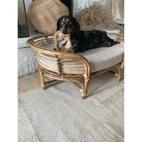 "Creative Co-Op Dog Bed   Cane & Cushion   36"""