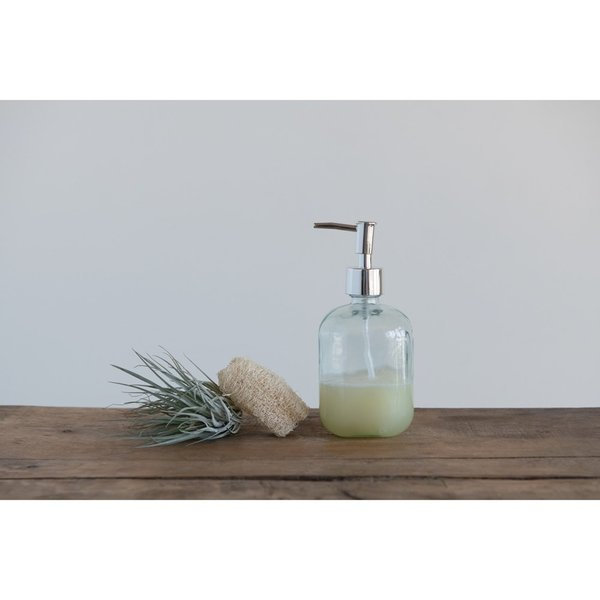 Creative Co-Op Soap Dispenser | Recycled Glass | 16oz