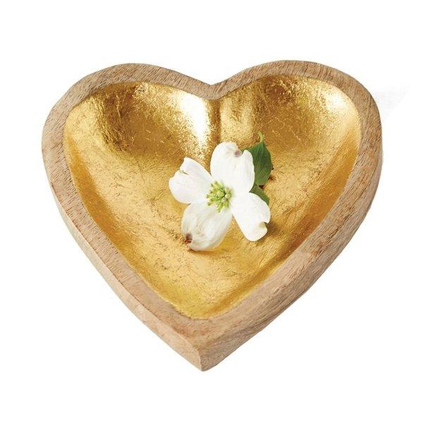 Creative Co-Op Bowl | Gold Leaf  Heart