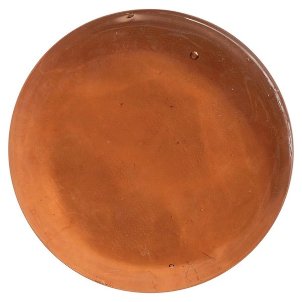 Creative Co-Op Tray | Round Handmade Glass | Amber/Pink