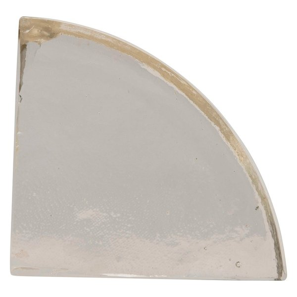Creative Co-Op Bookend   Handmade Glass   Clear