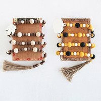 Creative Co-Op Garlands   Paulownia Wood Bead