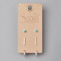 Scout Curated Wears Earrings | Scarlett Stud Trio