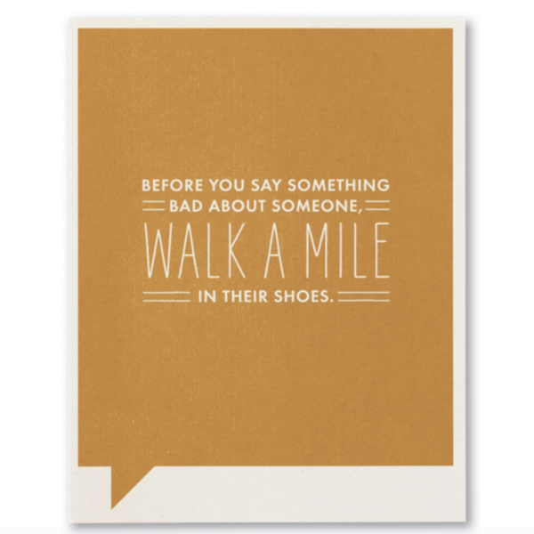 Compendium Card | Just for Laughs | Walk a Mile