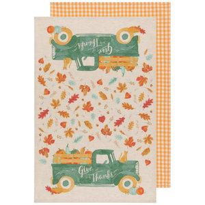 Now Designs Tea Towel   Set of 2   Autumn Harvest