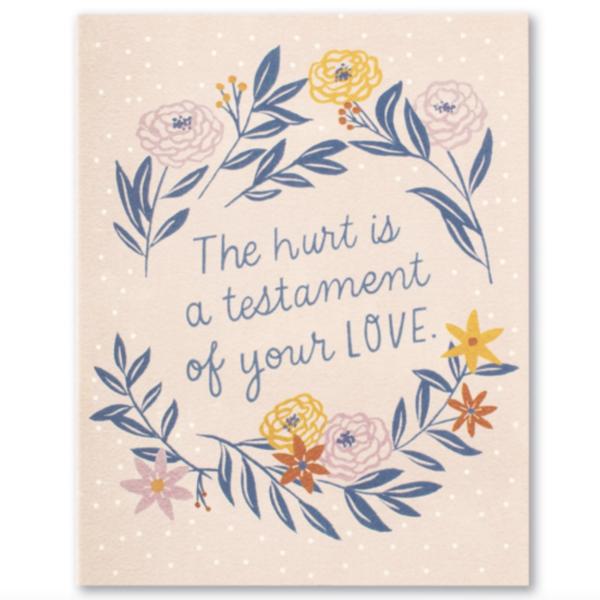 Compendium Card | Encouragement | Hurt is a Testament