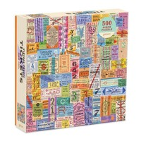 Chronicle Books Puzzle | 500pc | Vintage Travel Tickets